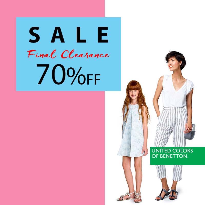 A 70% summer sale in Benetton