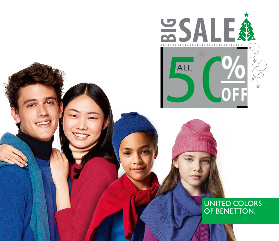 A discount at Benetton on Autumn-Winter collection