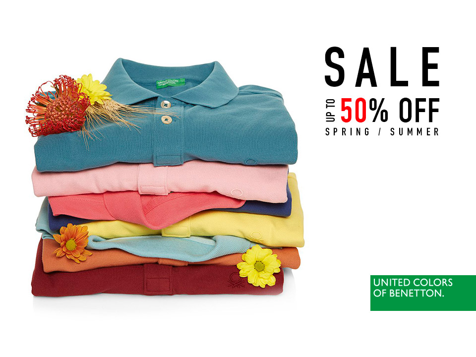 Up to 50% discount in Benetton