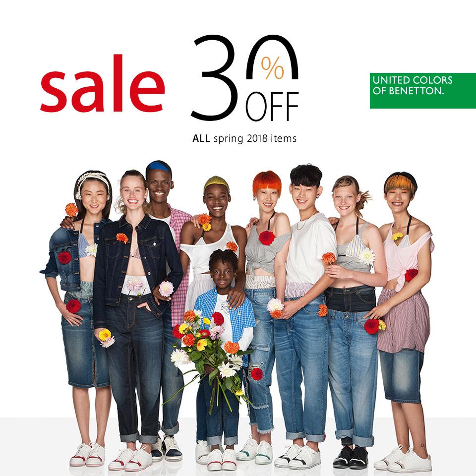 Seasonal discount – 30% in Benetton