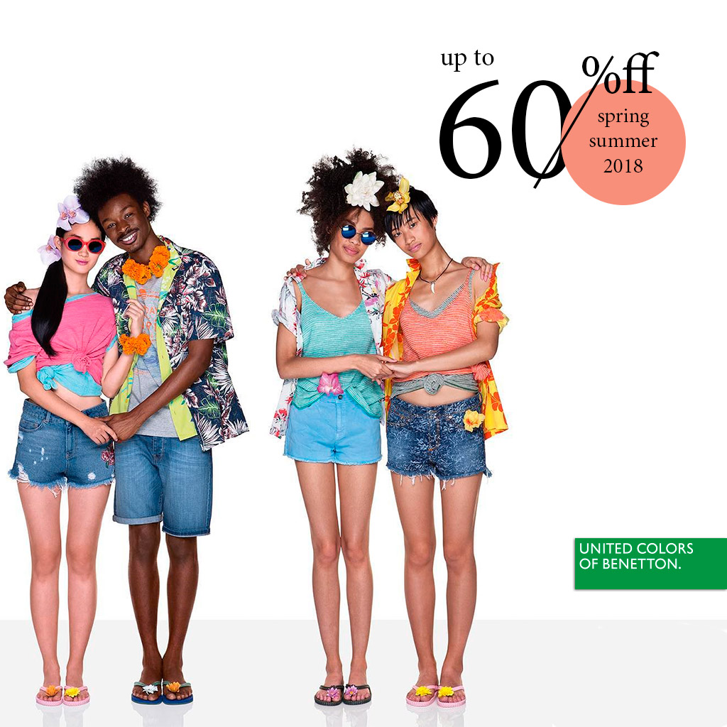SALE UP TO – 60% in Benetton stores