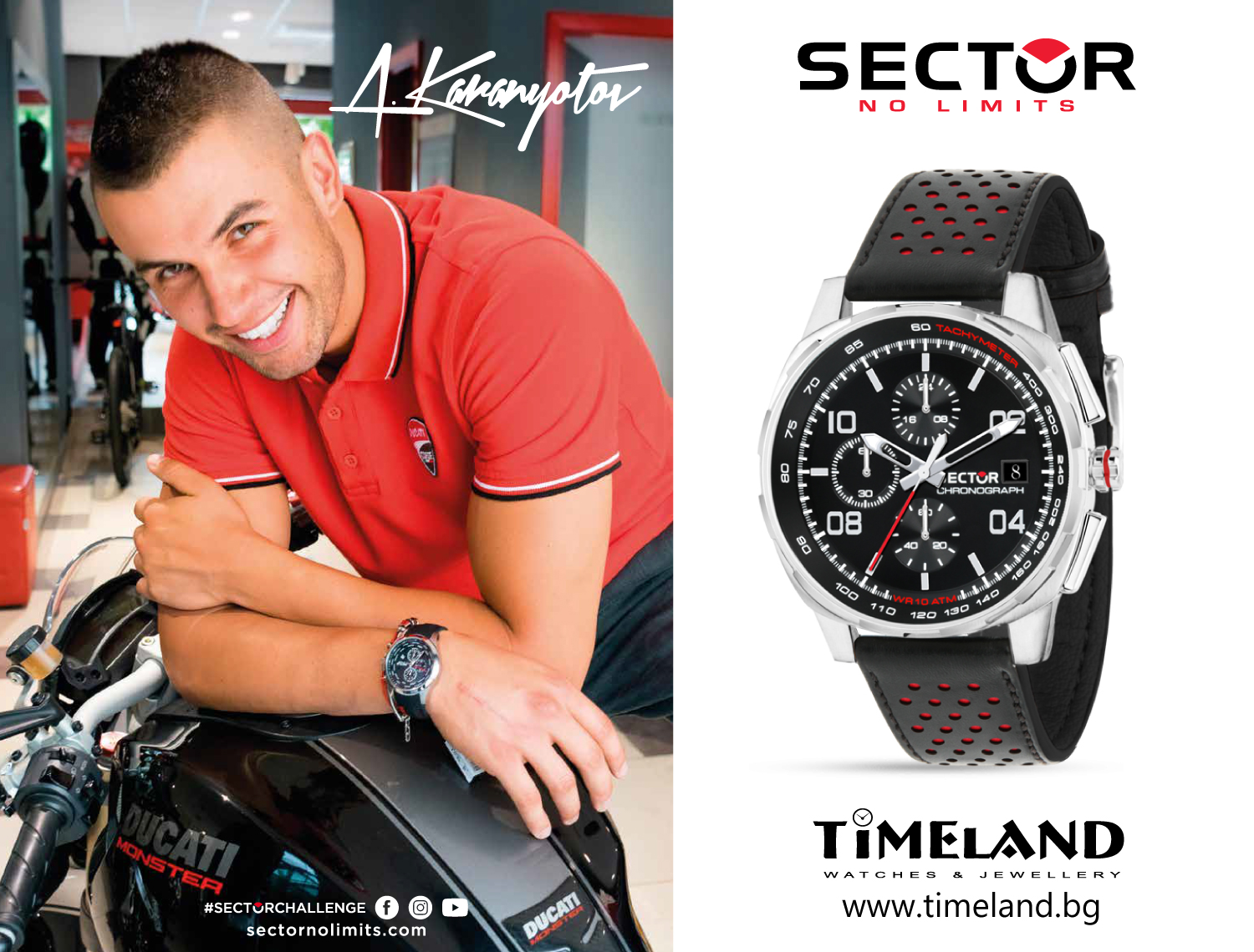 Sports watches Sector No Limits in Timeland