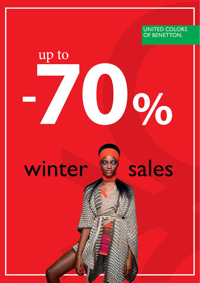 Benetton – 70% Winter sale