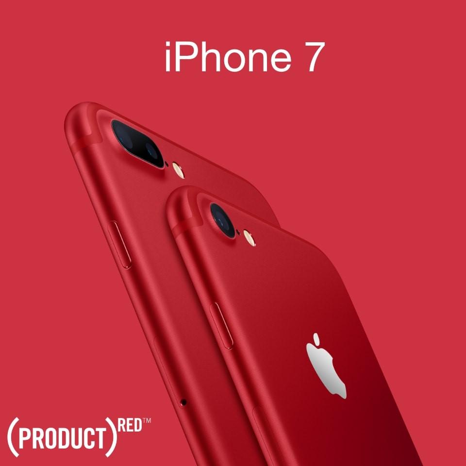 Нови iPhone 7 и iPhone 7 Plus в специалeн червен цвят