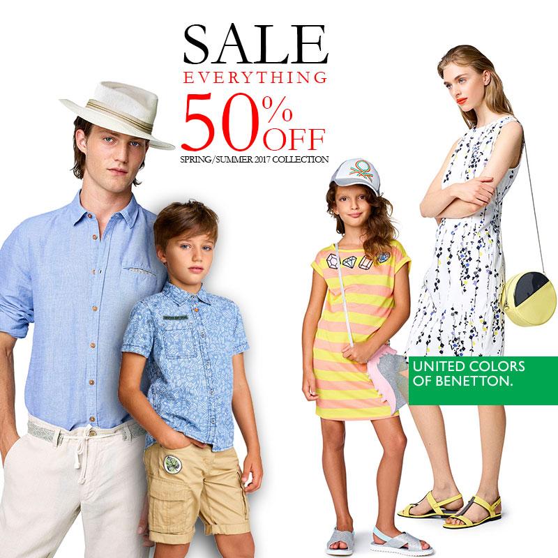 Всичко на 50% в Benetton и Benetton Kids