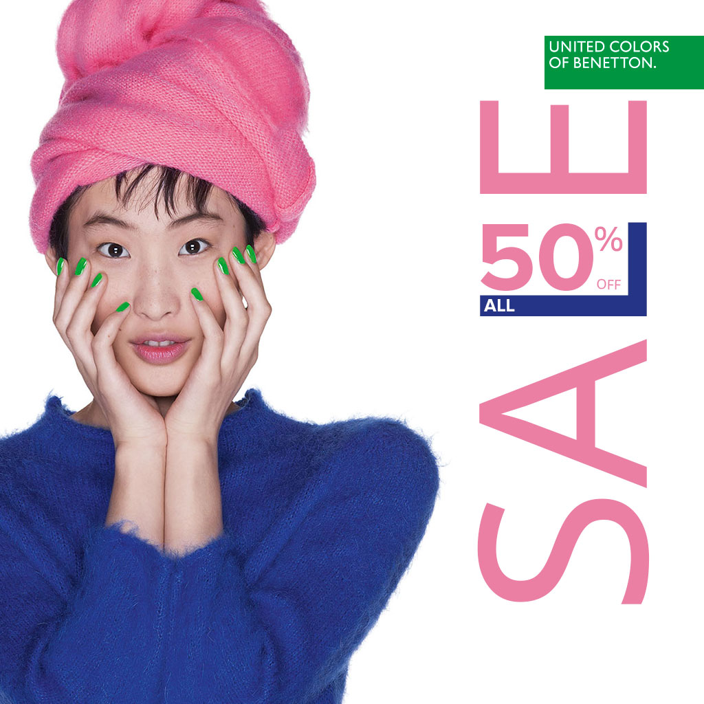 50% discount on EVERYTHING in Benetton - Mall Plovdiv EN 3653d82d877