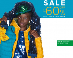 Up to 60% discount in Benetton