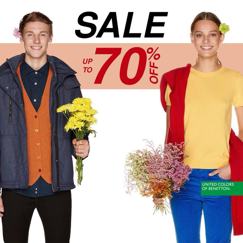 LAST CHANCE Up to 70% discount in Benetton