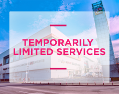 Temporarily limited services of the shopping center