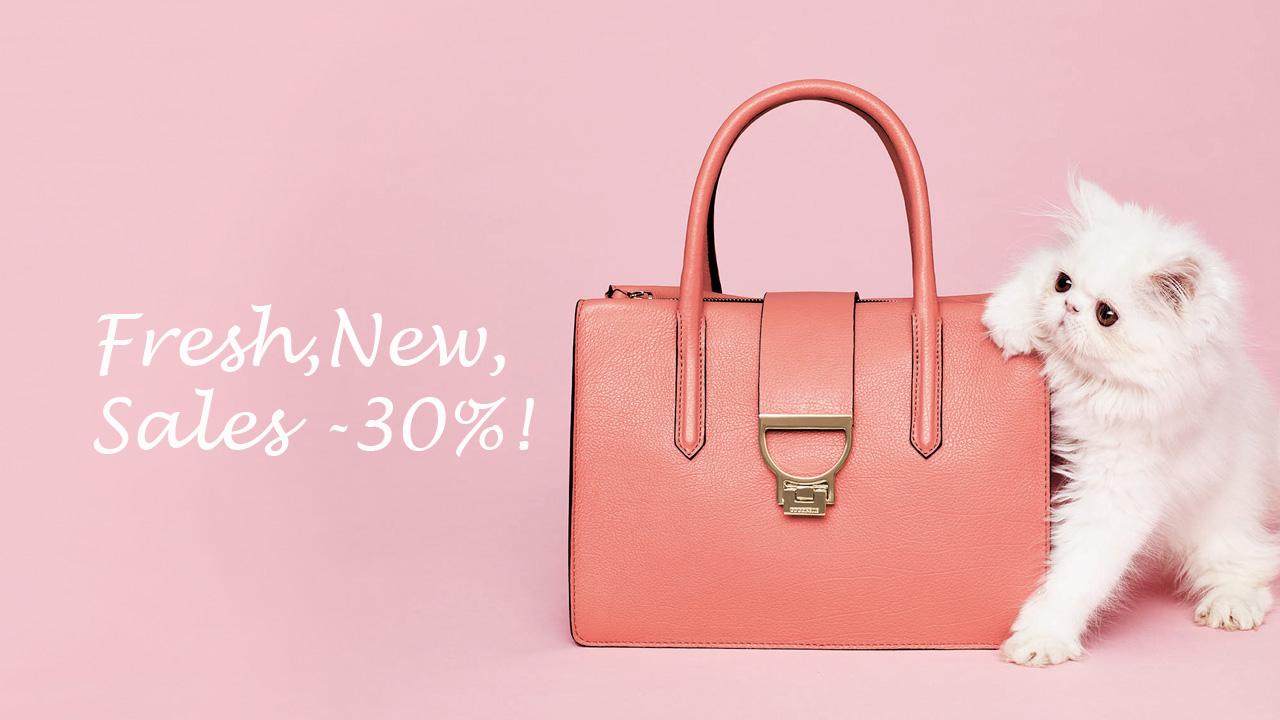 Чанти Coccinelle с 30% отстъпка само в магазин Scandal!