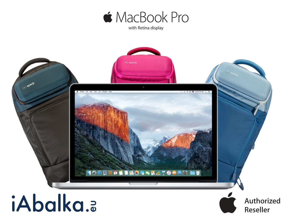 За всеки закупен MacBook Pro with Retina display 13 или 15 инча ще получите раница Speck MightyPack