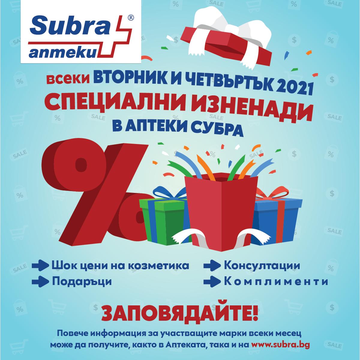 Акция от аптека Subra